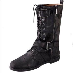 Michael Kors Joplin Tall Combat Boots